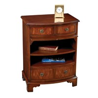 Mahogany Bowfront Bedside Table