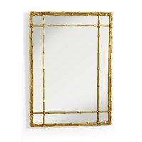 Classic Lashed Bamboo Mirror