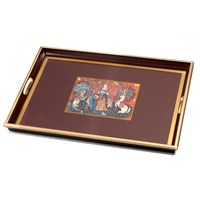 Pallas Tapestry Glass Based Tray