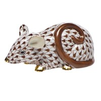 Herend Curly Tail Mouse Figurine