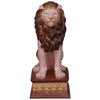 Herend Reserve Collection Lion on Pedestal
