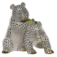 Herend Panda Pair Figurine