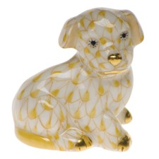 Herend Miniature Dog Figurine