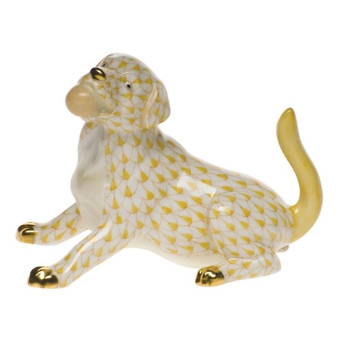 Herend Labrador with Ball Figurine