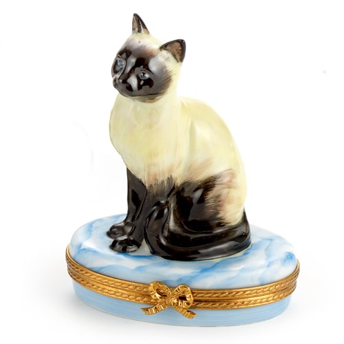 Siamese Cat Limoges Box