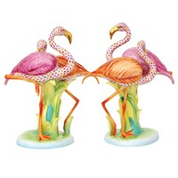 Herend Reserve Collection Flamingo Duet