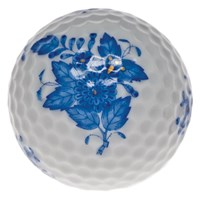 Herend Chinese Bouquet Golf Ball, Blue