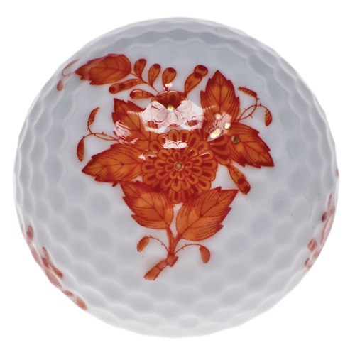 Herend Chinese Bouquet Golf Ball , Rust