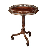 Mahogany Octagonal Gallery Table