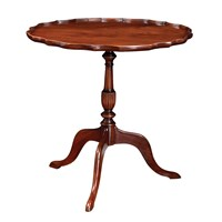 Mahogany Piecrust Wine Table
