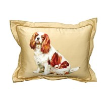 King Charles Spaniel Silk Pillow
