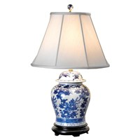 Temple Jar Lamp Blue & White