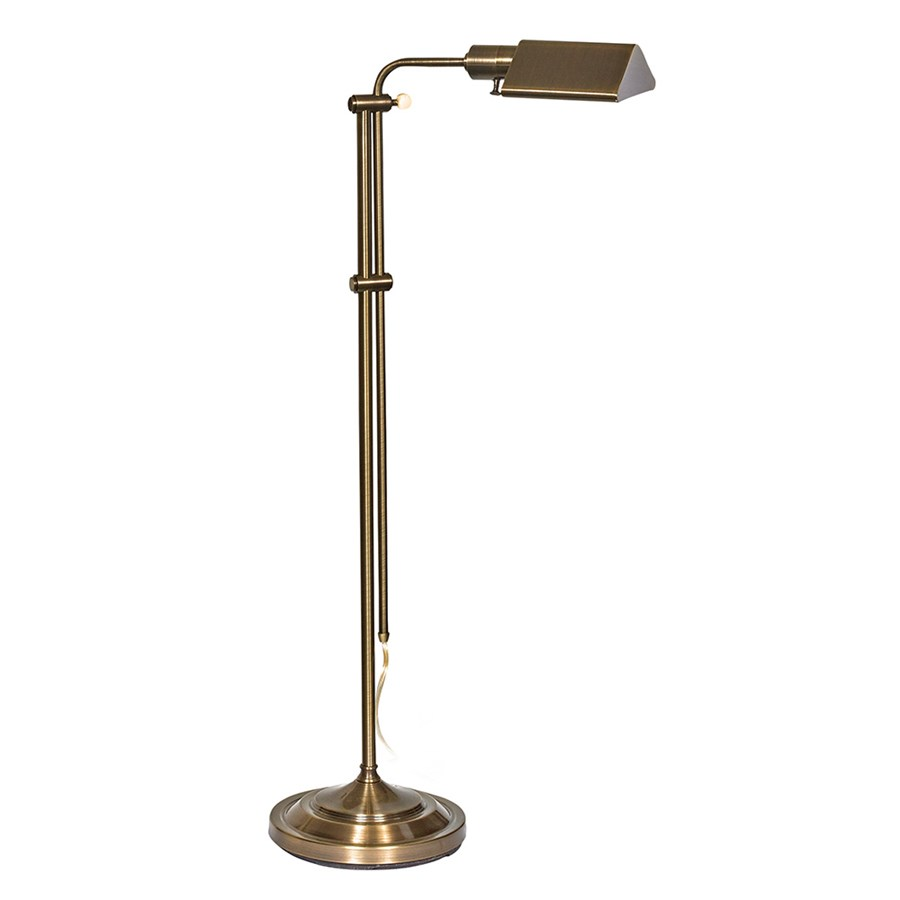 Adjustable Brass Pharmacy Floor Lamp | Floor Lamps