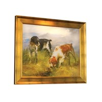Brittany Spaniels Scottish Landscape Giclee