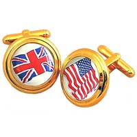 Cufflinks, Custom Flag or Two Flags