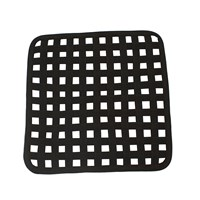 Black Open Lattice Square Placemat