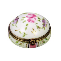 Lilacs Round Powder Box