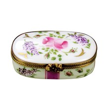 Oval Lilacs Limoges Box