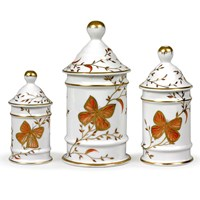 Butterfly Pharmacy Jars, Set of Three