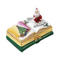 Open Book with Santa Limoges Box