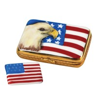 Eagle & USA Flag Limoges Box