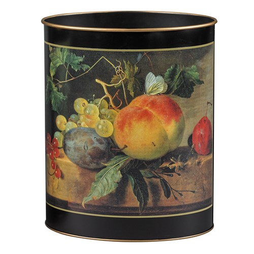 17th Century Still Life Wastebasket