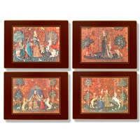 Pallas Tapestry Table Mats, Set of Four