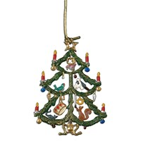 Pewter Tree with Toys Ornament