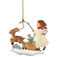 Pewter Sleigh Ride Ornament