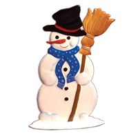 Pewter Snowman with Broom
