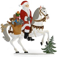 Pewter Santa on Horse