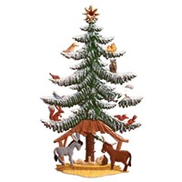 Pewter Nativity Tree