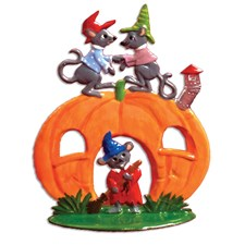 Pewter Pumpkin Mouse House