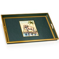African Animals Glass Tray, Elephant