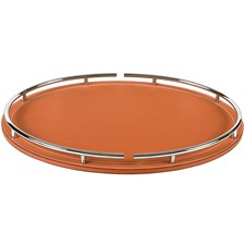 """Circus"" Oval Leather Tray"