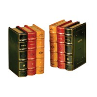 Leather Books Bookends