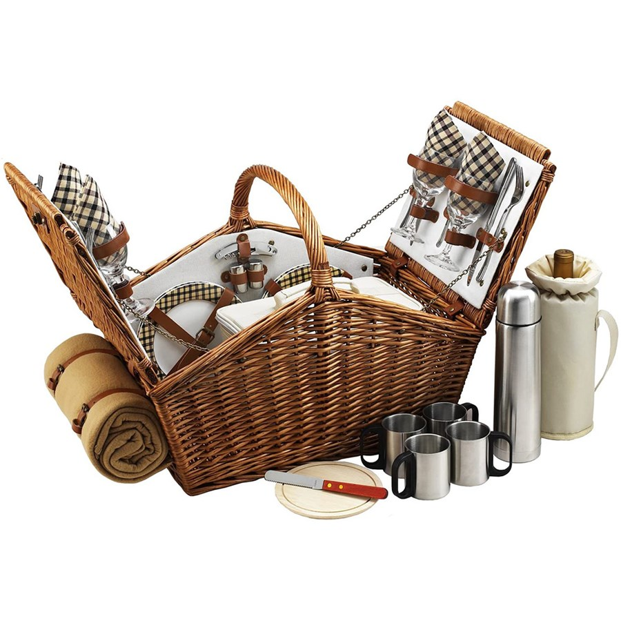 Classic Four Person Picnic Basket | Wedding Gifts | Gifts For All ...