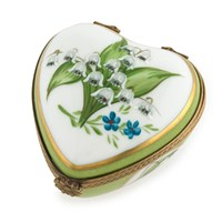Lily of the Valley Collectible Heart Box