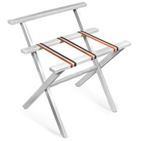 White Luggage Rack with Wallsaver