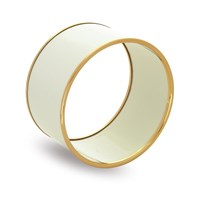 Halcyon Days Wide Bangle, Beige and Gold