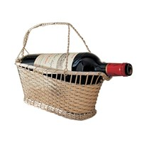 Ercuis Silver Plated Woven Wine Basket