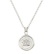 Sterling Silver Wax Seal Pendant Necklace