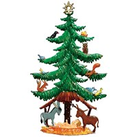 Pewter Pine Tree with Animals