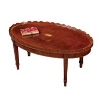 Scalloped Mahogany Coffee Table