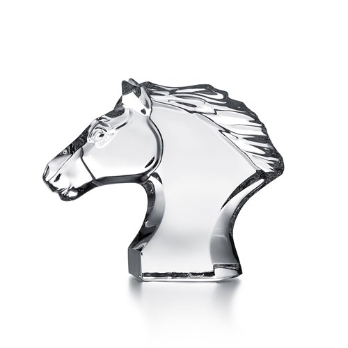 Baccarat Horse Head Small Crystal Figurine