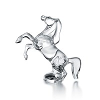 Baccarat Horse Rearing Crystal Figurine