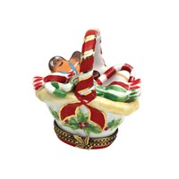 Christmas Basket with Candy Limoges Box