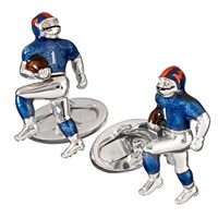 Sterling Football Player Cufflinks with Moving Parts