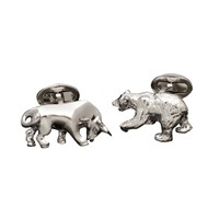 Sterling Cufflinks Bull and Bear