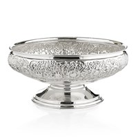 Silverplate Floral Centerpiece Bowl
